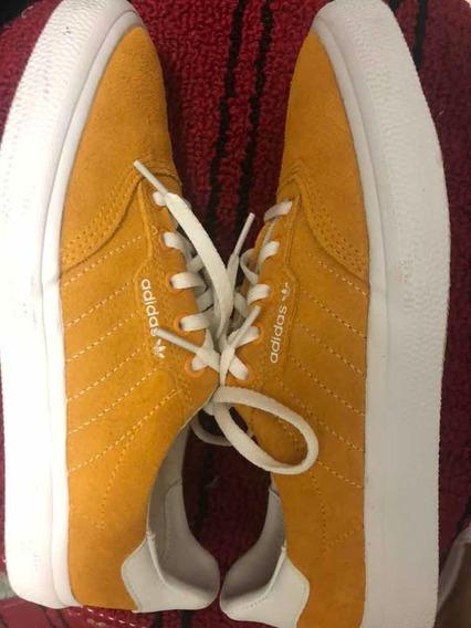 Tênis De Couro adidas Amarelo