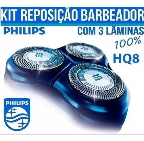 Lâminas Barbeador Elétrico Philips Hq8 Hq7 Hq9 At891 At751