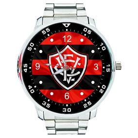 Relógio Vitória Leão Da Barra Bahia Futebol Rubro Negro Top