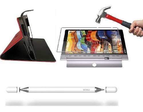 Estuche Lenovo Yoga Smart 10  + Vidrio + Lapiz 2 En 1