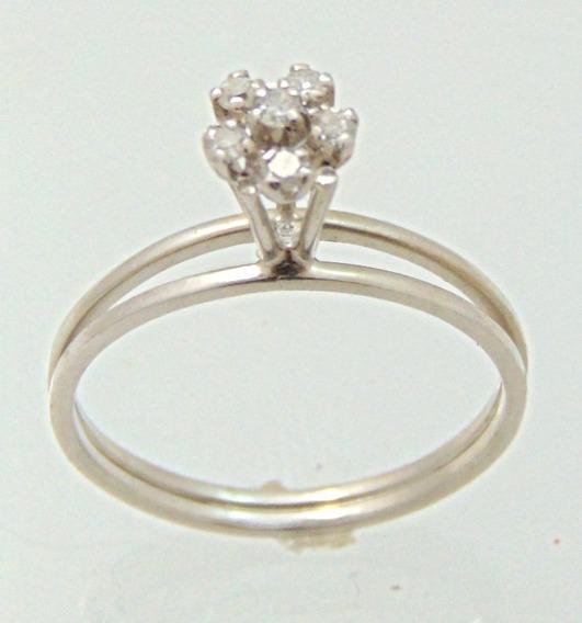 Chuveiro De Diamantes Em Ouro Branco 0,15 Cts - Paris Jóias