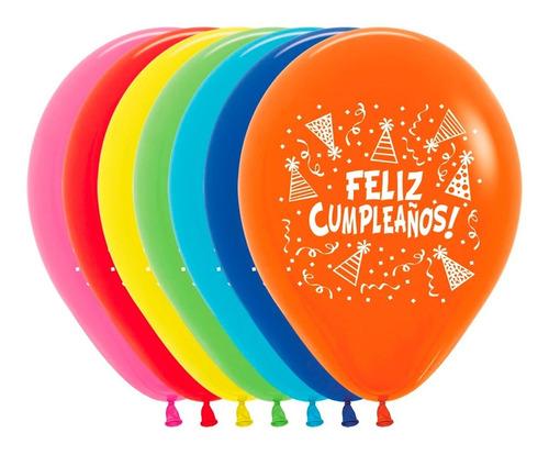 Bombas R12 Surtido, Feliz Cumpleaños Gorritos X 50 Unds