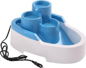 Fonte Para Cães E Gatos, Modelo Cascata, 2,5 Litros, Azul