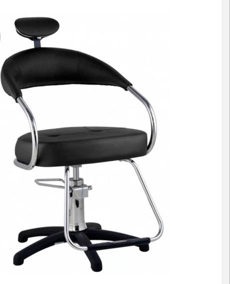 Cadeira Para Salão Dompel Preta