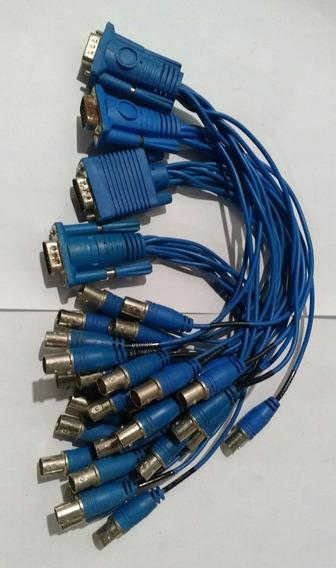 4 Rabicho/cabo/conector/chicote/placas Da Geovision Câmeras