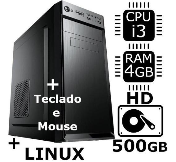 Desktop Brother Intel® Core I3 4gb Hd 500gb Teclado + Mouse