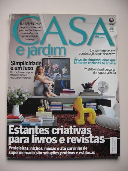 Revista Casa E Jardim - Nº 645 - Estantes Criativas Para ...