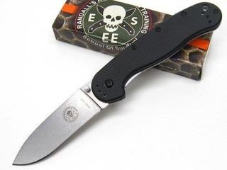 Canivete Esee Avispa 3.5 Stonewashed D2 Blade, Black Frn.
