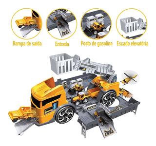 Pista Infantil Caminhao Garagem De Construcoes E Resgate