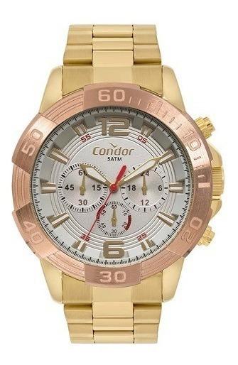 Relógio Condor Masculino Dourado Analógico Covd54az/4c