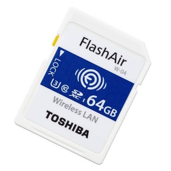 Cartão Sd Toshiba Flashair Wi Fi 64gb 4k U3 Classe 10 W-04