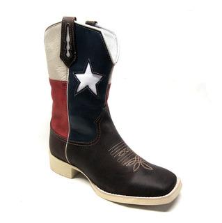 Bota Texana Masculina Lisa Café Texas Sola Branca Bq 33094