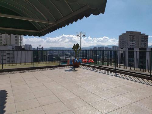 Cobertura Triplex À Venda Na Barra Funda, Com 4 Dormitórios, Terraço Com Churrasqueira E Jacuzzi, Com 4 Vagas De Garagem - Co0392