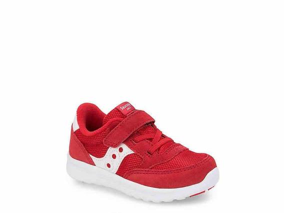 Tenis Para Niño Saucony Rojo 4 Usa/11 Cm