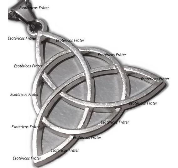 Colar Celta Triquetra Wicca Amuleto Viking Triskelion