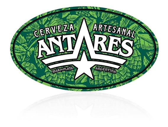Chapa Ovalada Verde Cerveza Artesanal Antares