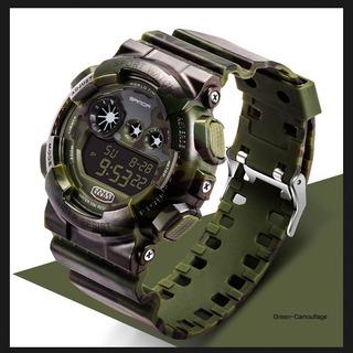 Reloj Militar S-shock Luz Alarma Sumergible Varios Colores