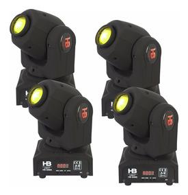 Mini Moving Led 30w Spot 04 Unidades Beam Led Envio Imediat
