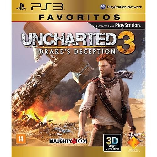 Jogo Uncharted 3 - Drake Deception - Original - Ps3 Mídia Fí