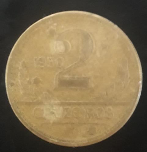 Imagem 1 de 2 de Moeda 2 Cruzeiros Ano 1950
