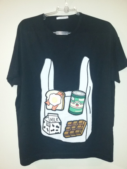 Camiseta Preta Zara (seminova)