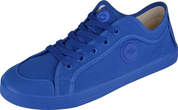 Tenis Todo Azul Sola Azul Masculino Skate Casual Dia Dia