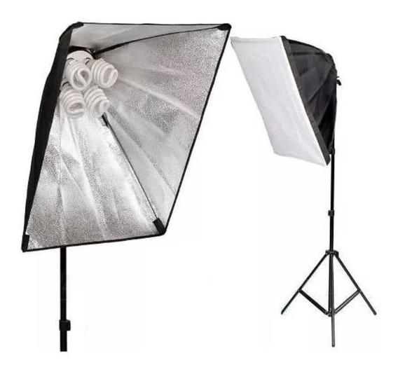 Kit Para Fotografia - Luzes E Suporte+ 2 Fundos Infinitos