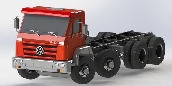 Caminhão Vw 17-220 Bi - Dir. P/ Projetos Rodoviários