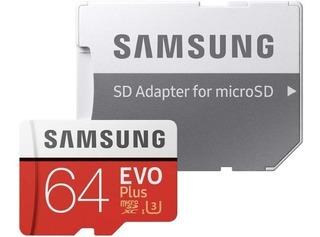 Samsung 64 Gb Evo Plus Class 10 Micro Sdxc C/adaptador 80mb