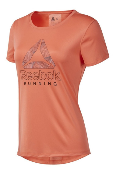 Remera M/c Reebok Running Mujer Essentials Delta Graphic Cli