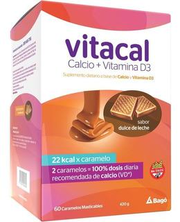 Vitacal Dulce De Leche X 60 Caramelos Masticab Calcio+vitd3