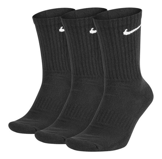 Kit 3 Pares De Meias Nike Everyday Crew Original Nfe Freecs