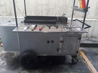 Carretilla De Hamburguesa Hotdog Comidas Rapidas