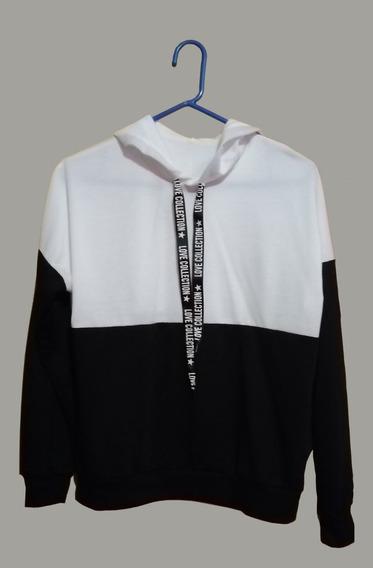 Sudadera Bi Color Blanco Y Negro Marca Shein