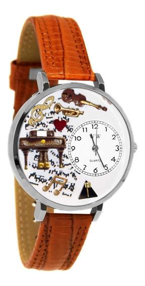 Música De Piano Reloj De Plata (grande)