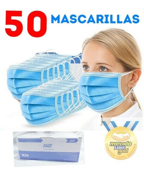 Mascarillas Quirúrgicas Desechables Caja X 50 De 3 Pliegues