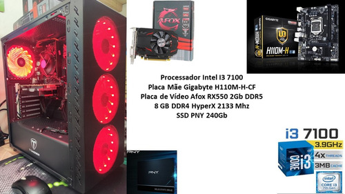 Pc Gamer I3 7100 8gb Rx 550 2gb