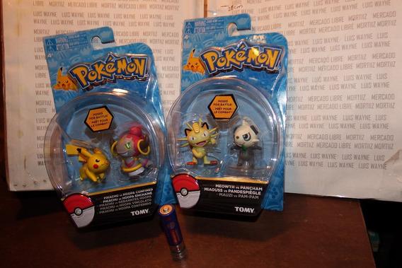 2 Paquetes Figuras Pokemon Meowth Pikachu Tomy Ruz