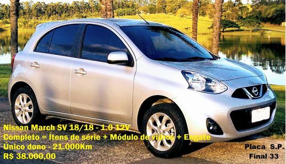 Nissan March Sv 18/18 1.0 12v - Super Novo
