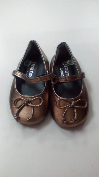 Zapatos Dorados De Bebe Niña