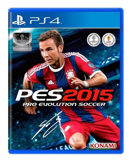 Pro Evolution Soccer Pes 2015 - Ps4 - Mídia Física