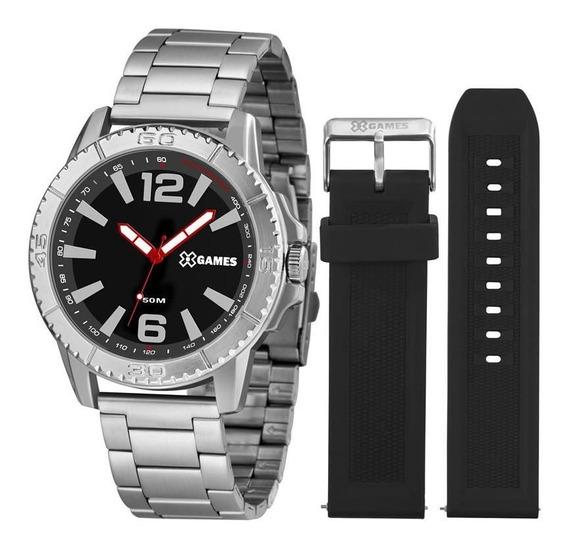 Relógio X Games Masculino Xmls0001 P2sx Prateado + Pulseira