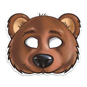 ebfa77f82a5a24 Máscara Urso Colorido Com Impresso - 01 Unidade