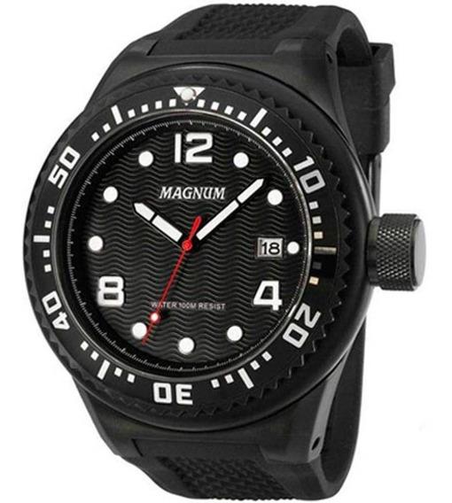 Relogio Magnum Masculino Preto - Ma34021d