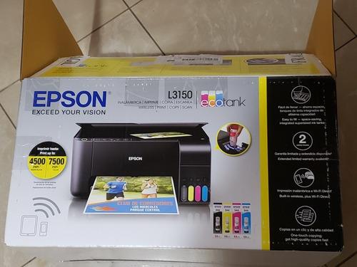 Impresora Multifuncion Epson L3150 Con Wifi Para Sublimacion
