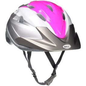 Capacete Bike Bell Thalia Rosa E Prata - Tamanho 54-58