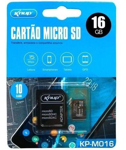 Micro Sd Cartão De Memória Knup 16gb P/ Celular