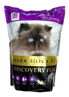 Piedra Silica Sanitaria Lavanda 3,8 Litros Discovery Pet