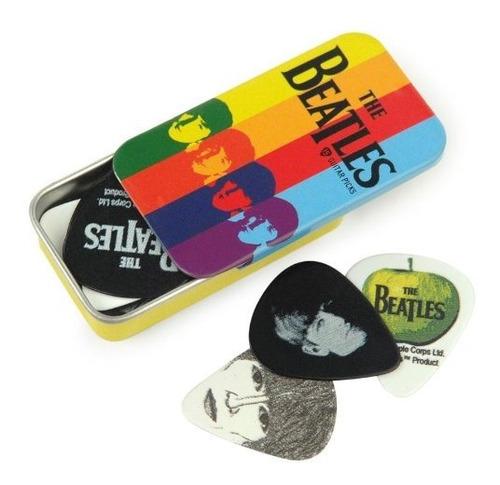 Imagen 1 de 3 de Lata Para Puas De Guitarra Ondas Planetarias De Firma Beatle
