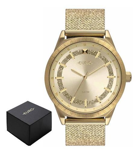 Relógio Euro Feminino Dourado Eu2036ypv/4d